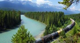 Train in Mountians